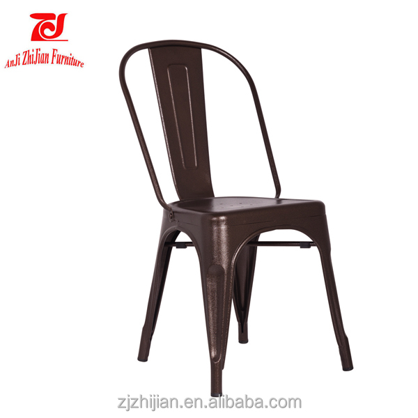 No Folded and Metal chair/European Style New Design Upholstery Restaurant Colorful Wood Metal Chair ZJT1
