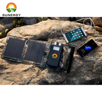 Foldable Solar Panel charger 5000Mah solar power bank