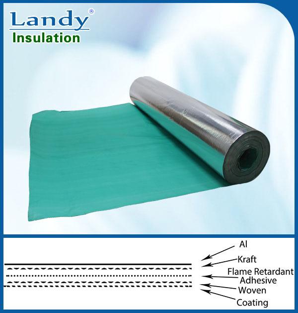 Radiant barrier aluminum foil woven reinforced insulation for Fireproof vapor barrier