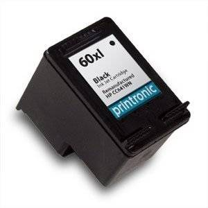 Printronic Remanufactured Ink Cartridge Replacement for HP 60XL CC641WN (1 Black)