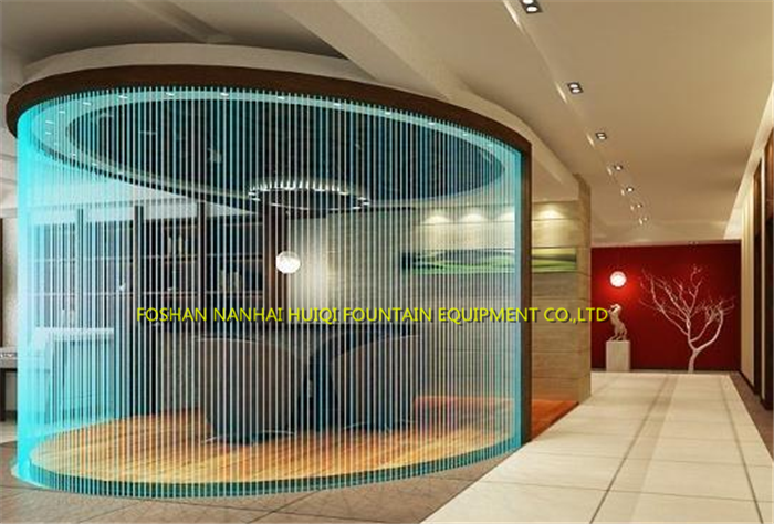 Oem Indoor Waterfalls Artificial Led Graphic Digital Water Rain ...