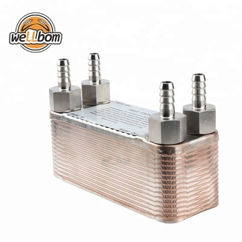 30 Plate Heat Exchanger Stainless Plate Wort Chiller Brewing Chiller ...