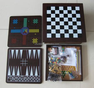 12 in 1 chess game set with MDF material