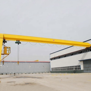 5t to 32t rail mounted single girder semi door portal gantry crane manufacturer