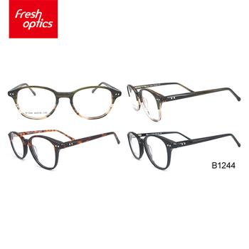 B1244 Vintage Black Optical Clear Plastic Eyeglass Frame For Man ...
