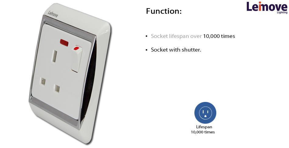 new product home ac 250v 13a british type electrical switch socket