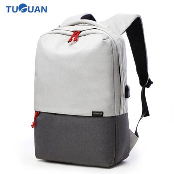 19fc61d86c Tuguan Women Men Laptop Notebook Backpacks Brand Backpack Casual School  College Student Bag External USB Charge