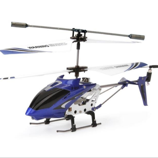 Syma s107 3CH mini flying toy rc helicopter with led light