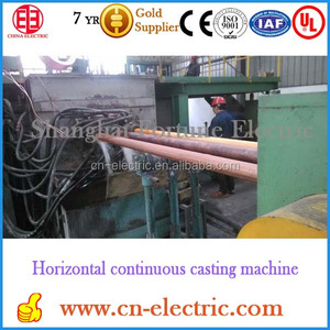 Horizontal continuous bullet making casting machine