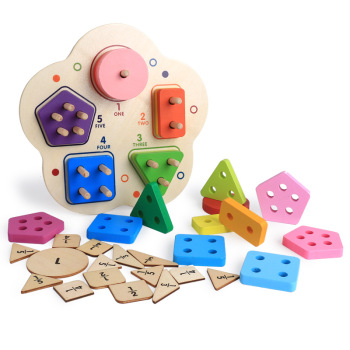 colorful kids matching toy kids wholesale geometrical wooden toy game cognitive child toy