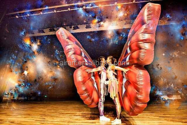 New design for stage show supplies decorations inflatable butterfly material