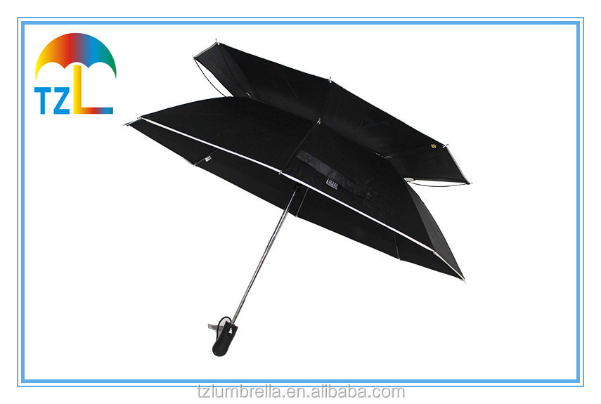 23 Inch Super Automatic Folding Strong Umbrella , Windproof Vented Canopy