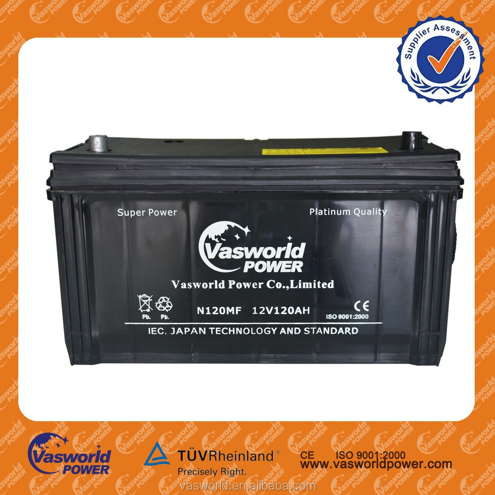 2016 N120mf Car Batteries For 12v120ah Reconditioned From Best Battery Manufacturer China