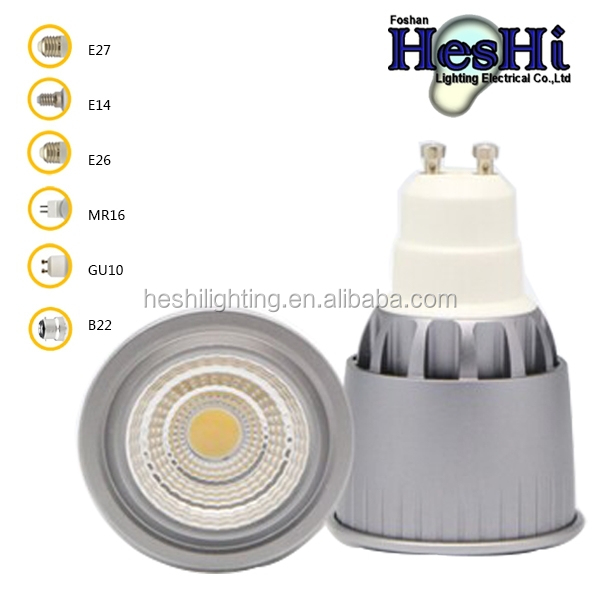 7W Dimmable COB LED Spotlight Bulb GU10 MR16 E26 Cool/Warm White
