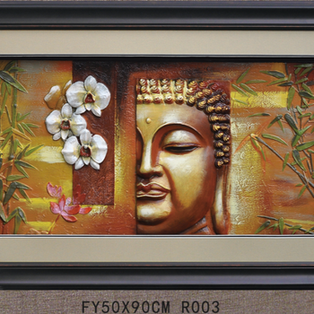 Handpainted 3d Buddha Painting Abstract Framed Oil Paintings - Buy ...