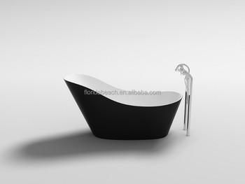 Vasca Da Bagno Ofuro : Nero acrilico freestanding vasca da bagno a immersione totale