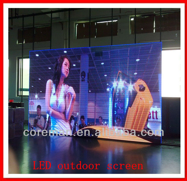 led advertisement screen outdoor led display Located in Russia p10LED Advertising Billboard