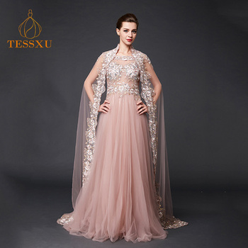 2aa9cccb90e33 Foshan Pink Evening Gown Sexy Evening Long Gown Party Wear Women Lace  Evening Dress With Cloak - Buy Long Evening Gown,Gown For Ladies,Asian  Mother Of ...