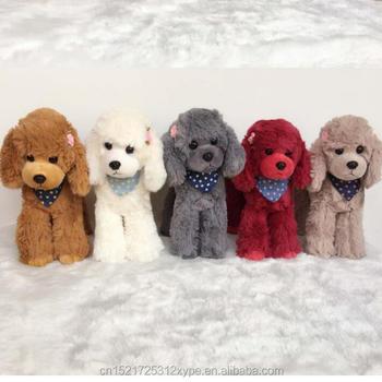 Cute Teddy Poodle Wearing A Scarf Stuffed Toy Dog Plush Toy Birthday
