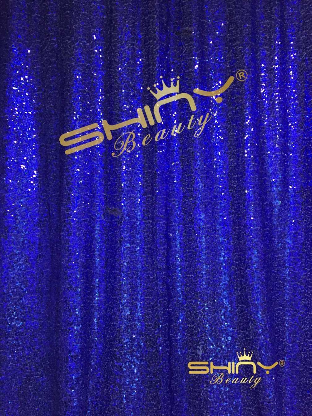 ShiDianYi 4FTx6FT-Royal Blue-Sequin Backdrop, Shimmer Sequin Fabric Photography Backdrops Sequin Curtain for Wedding/ Party (Royal Blue)