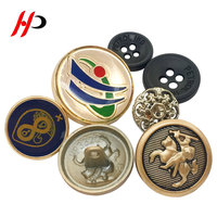 Factory Wholesale Fancy Ladies Embossed Logo Gold Sewing Alloy Metal Custom Shirt Button 20MM