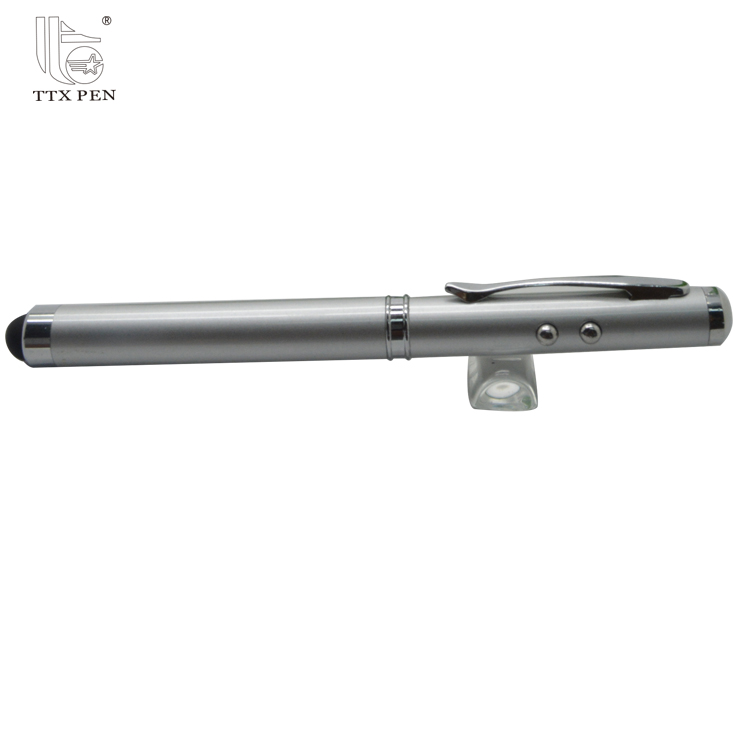 laser ball pen with extendable pointer Metal extending red laser pointer pen light