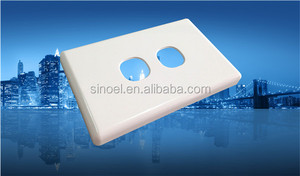 two gang SAA wall plate white
