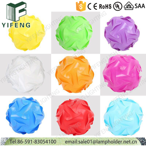 New colorful plastic material and round shape IQ jigsaw puzzle lamp