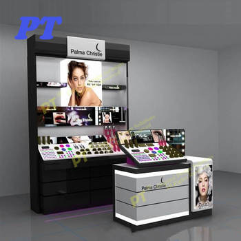 Custom design cosmetic top counter acrylic ,makeup display stand