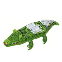 summer water inflatable crocodile swimming pool floats with handles