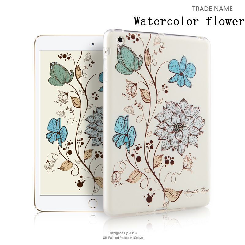 color print silicon rubber tablet case/cover for grils For ipad mini 123