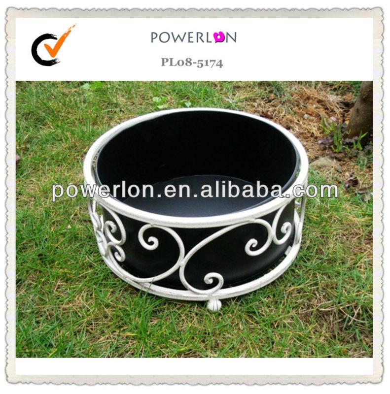 ms nuevo blanco metal hierro forjado jardineras y macetas
