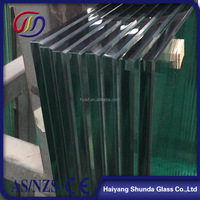 Beijing Haiyangshunda doors and windows interior design 12mm thick tempered glass dining table