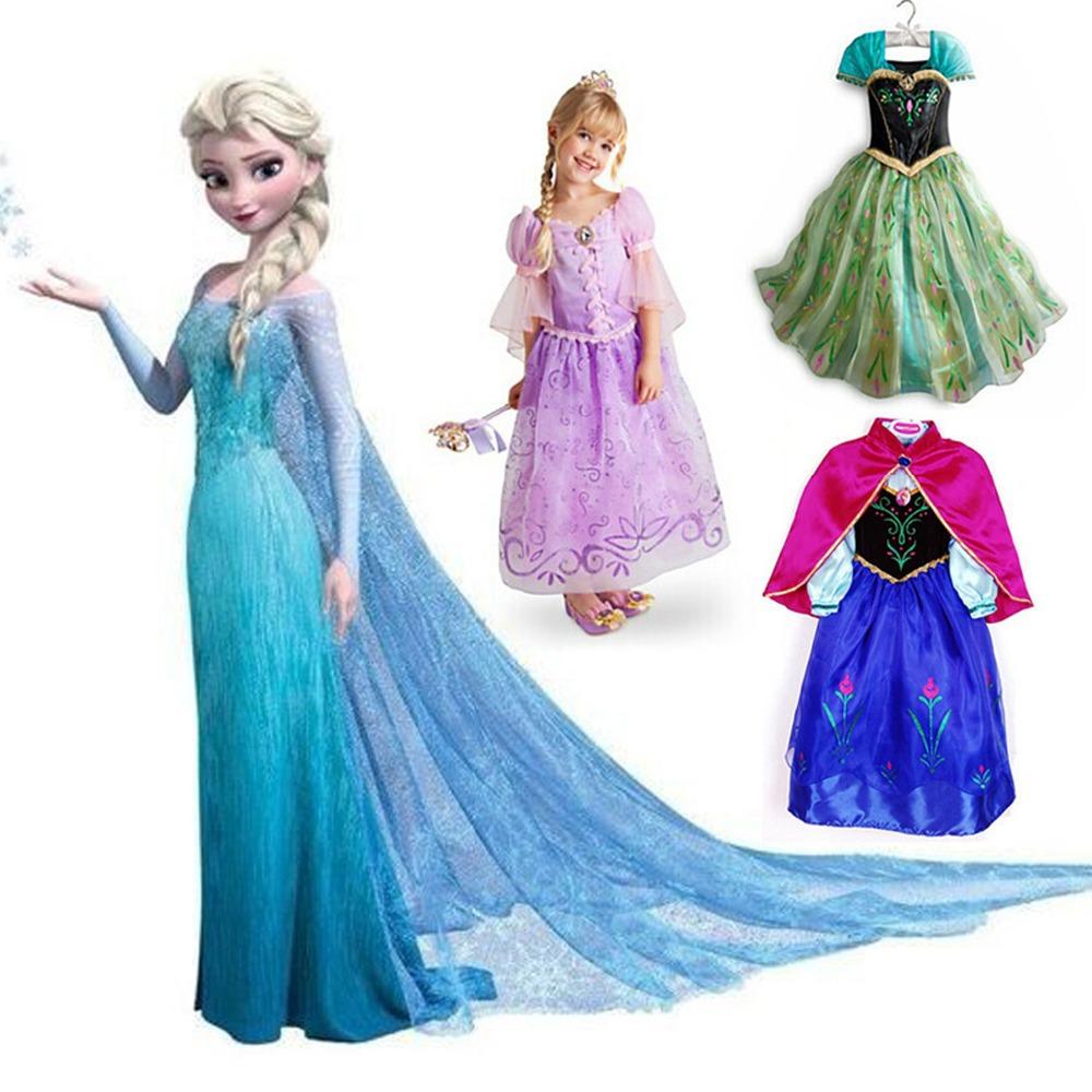 5a61b88a7fc0 Get Quotations · Free shipping only 8.5$! Retail frozen dress 2014 New  girls Elsa & Anna frozen