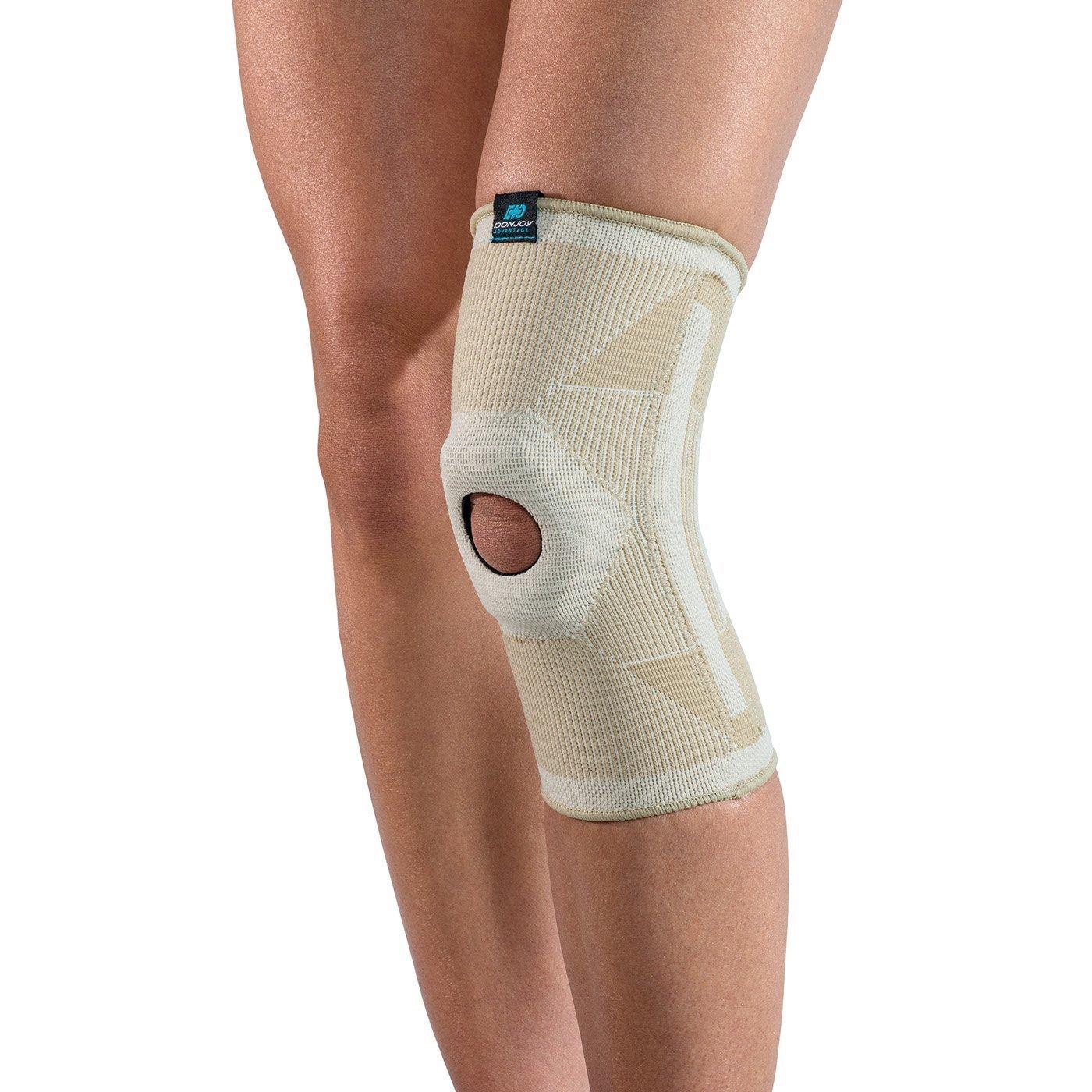 913322d725 Get Quotations · DonJoy Advantage DA161KS02-TAN-L Deluxe Elastic Knee for  Sprains, Strains, Swelling