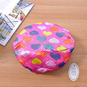 Hot selling pink shower cap,peva shower cap wholesale