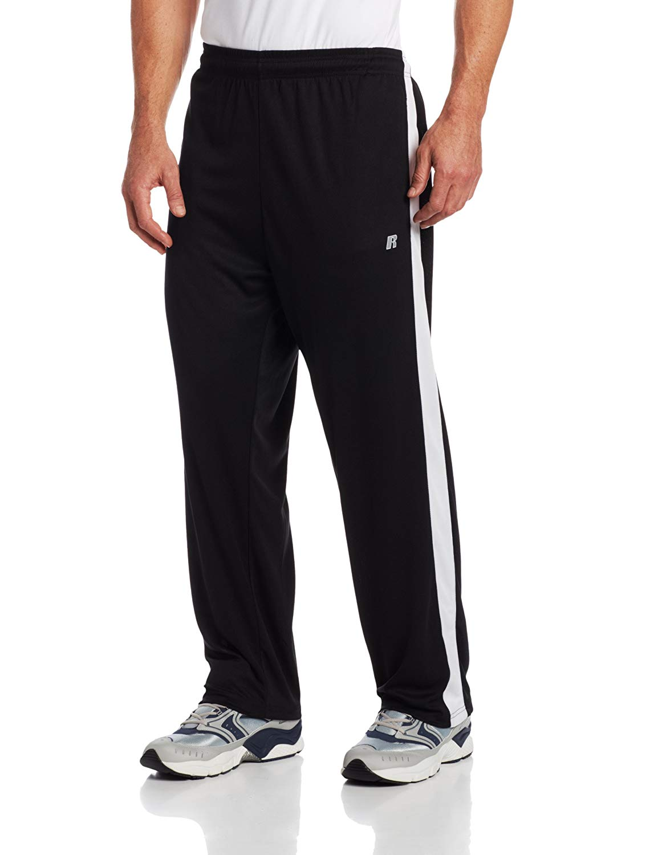 Russell Athletic Big & Tall Men's Big-Tall Athletic Dri-Power Pant, Black, 3X-Large/Tall