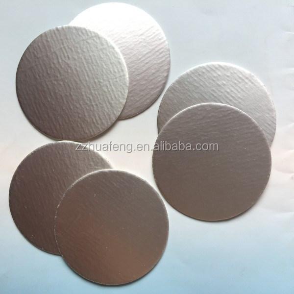 24mm Aluminum Foil Lid Liner For Pet Bottles