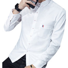 Best hot sale Cheapest casual white button up slim fit long white shirt mens