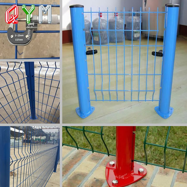 Metal Peach Fence Post Steel T Post with Square Tube Round Post