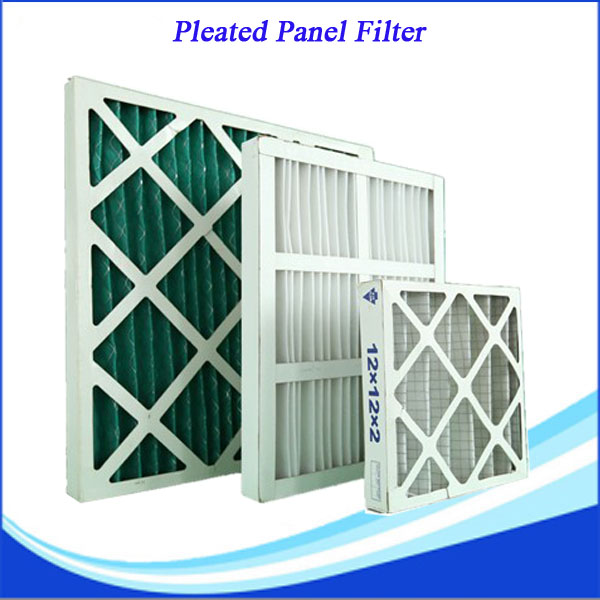 Large air flow g3 air pre filter pleated with High dust holding capacity