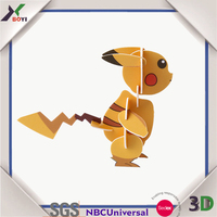 2016 new product pokemon 3d promotional puzzle educational toys/puzzle educative toys