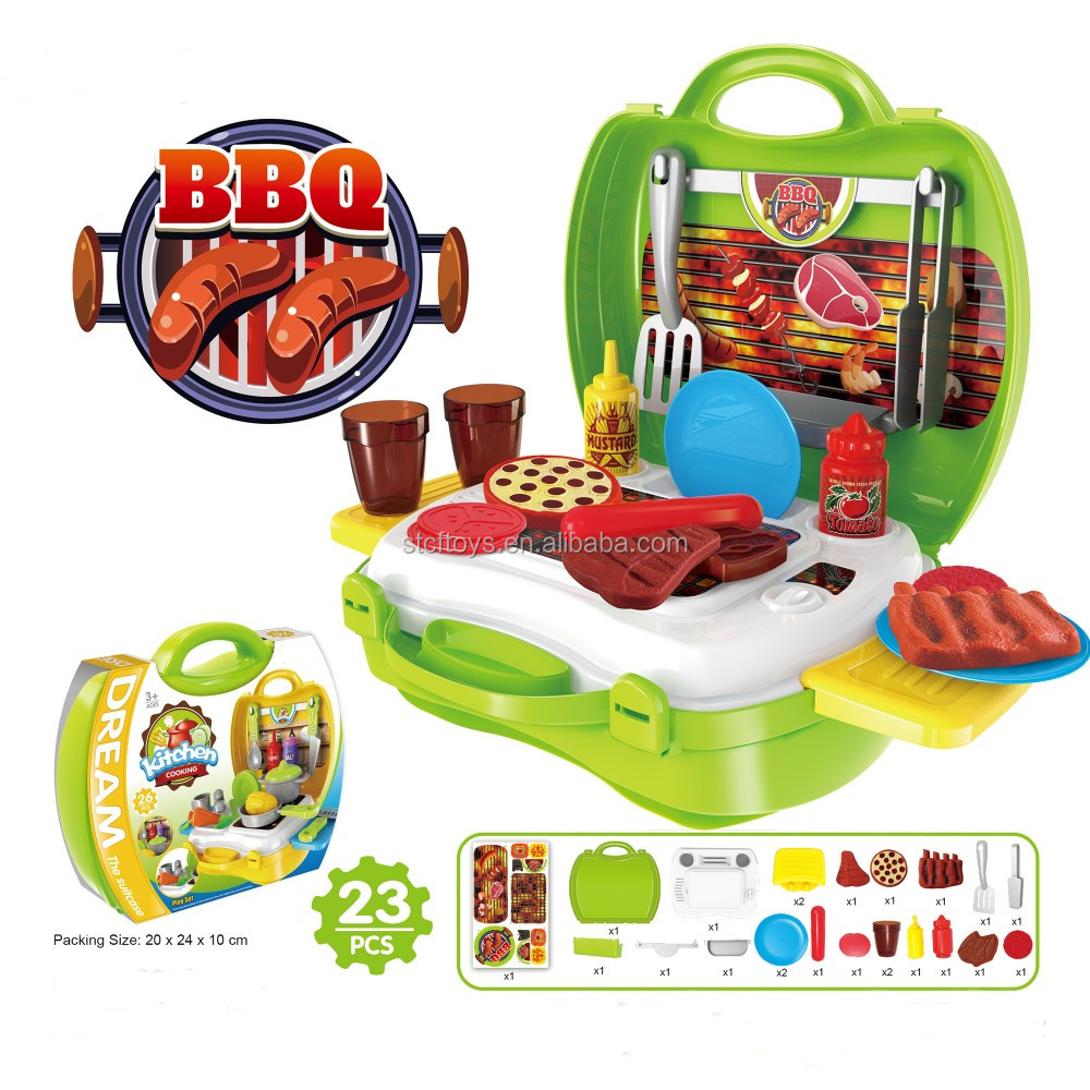 Simulation Plastic Grill Bbq Table Pretend Toys Kitchen Play Set