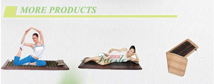 hot sale natural heatlh care negative ions tourmaline bed thermal infrared jade stone mattress