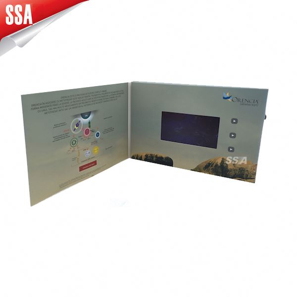 "SSA Super market 7"" LCD advertising video player in print with motion sensor"