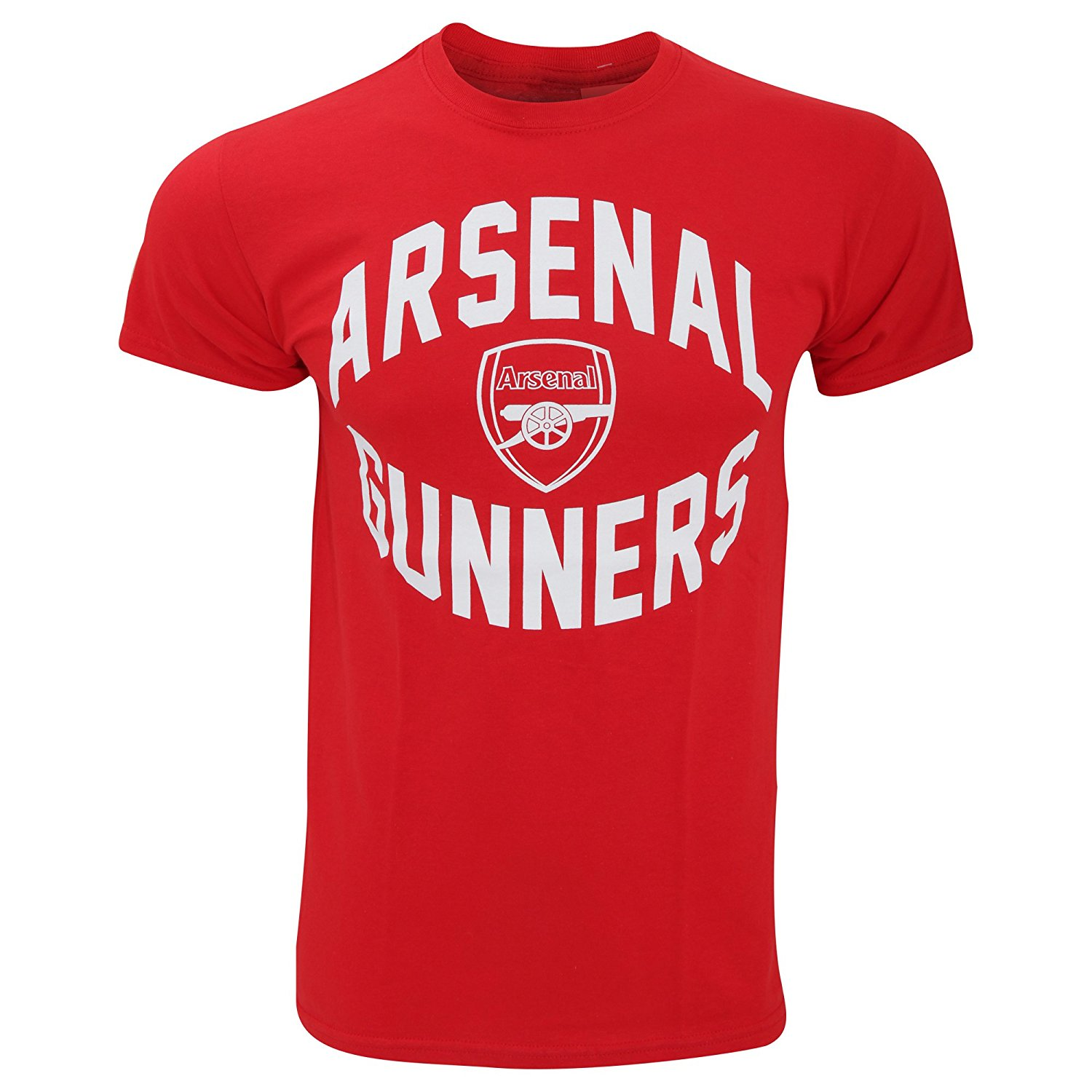 Arsenal FC Official Mens Short Sleeve Gunners Soccer/Football Crest T-Shirt