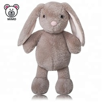 Fashion Standing Long Ears Plush Bunny Rabbit Toys For Kids Souvenir Gift Cute Custom Stuffed Animal Brown Soft Plush Rabbit