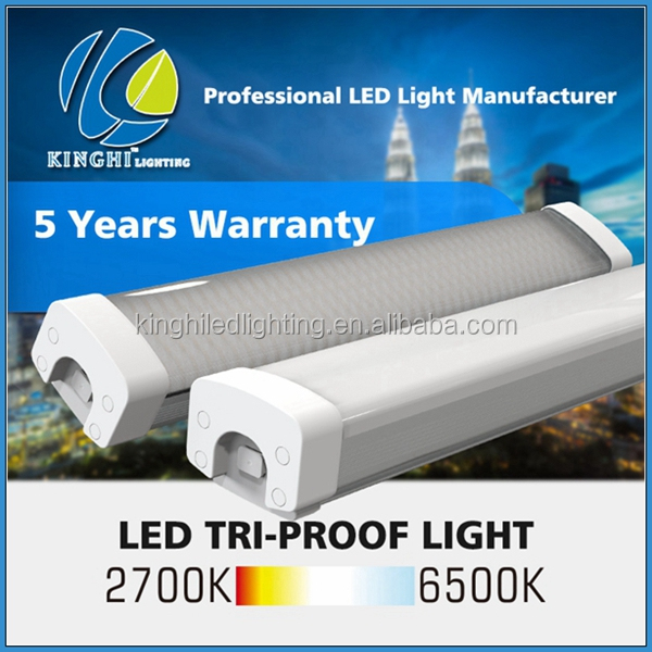 1800mm LED linear light IP65 led vapour proof LED luminaires for shop