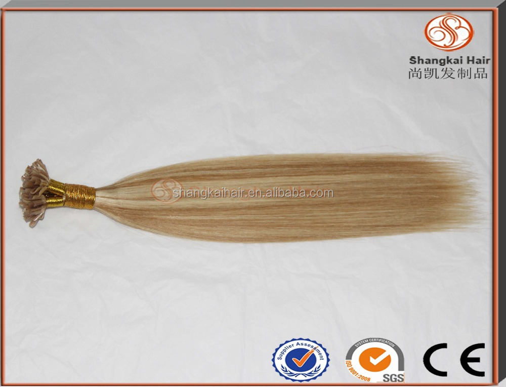 Shang kai Wholesale Top Quality 7A Virgin Remy Brazilian U tip hair Keratin Pre Bonded Hair Extension