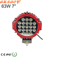Super bright 7inch 63w car work light led 12v driving light